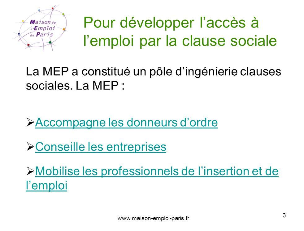 Pour développer l'accès à l'emploi par la clause sociale