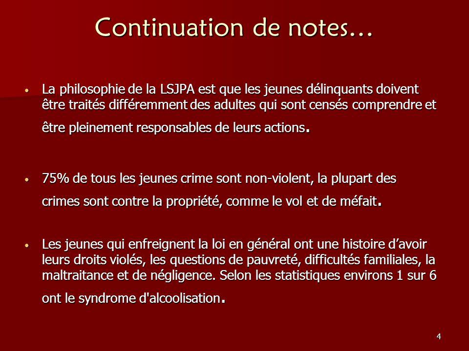 Continuation de notes…