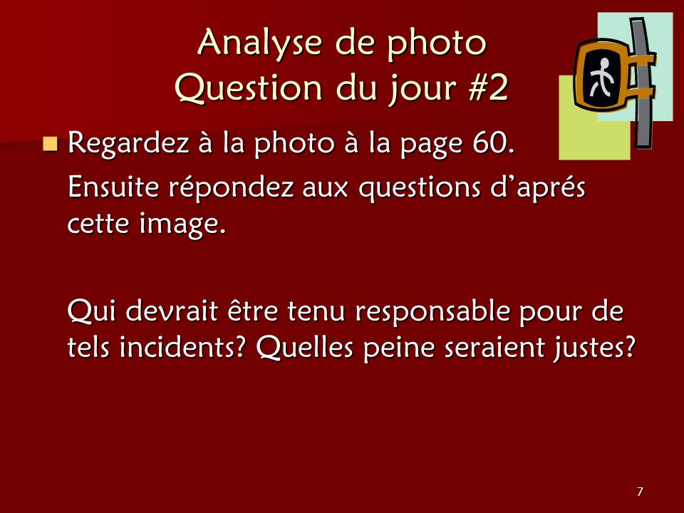 Analyse de photo Question du jour #2