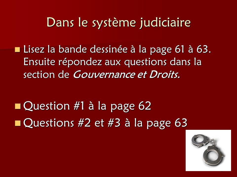 Dans le système judiciaire