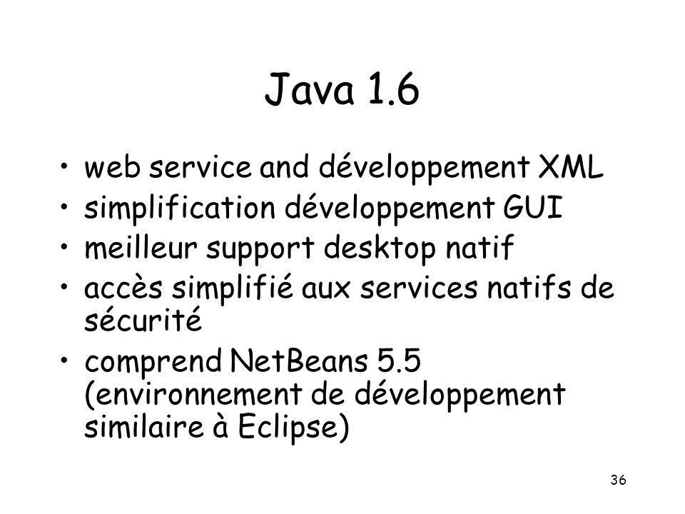 Java 1.6 web service and développement XML