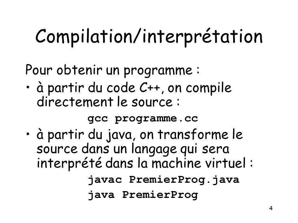 Compilation/interprétation