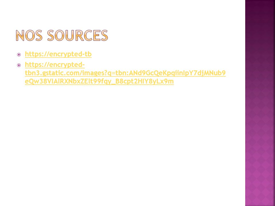 Nos sources https://encrypted-tb