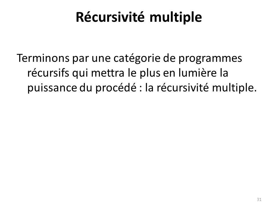 Récursivité multiple
