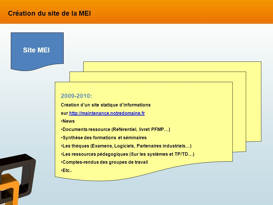 Création du site de la MEI