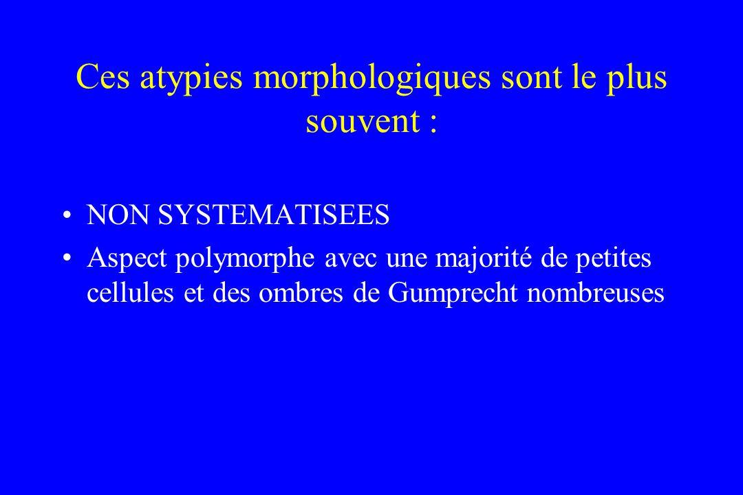 Ces atypies morphologiques sont le plus souvent :