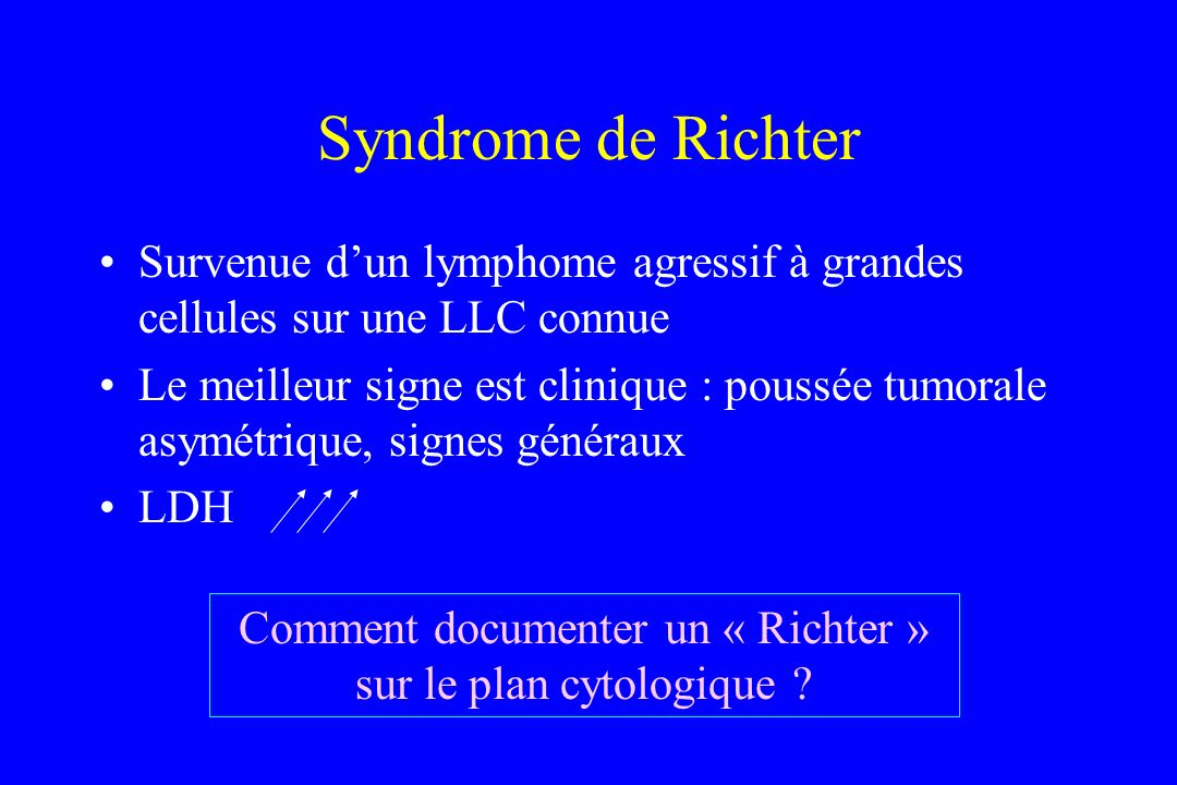 Comment documenter un « Richter » sur le plan cytologique