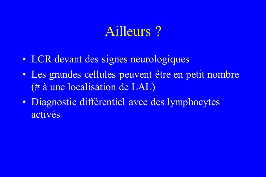 Ailleurs LCR devant des signes neurologiques