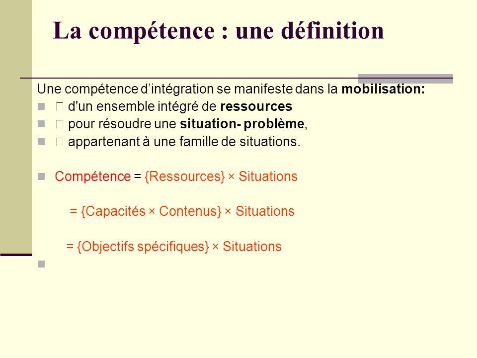 La compétence : une définition
