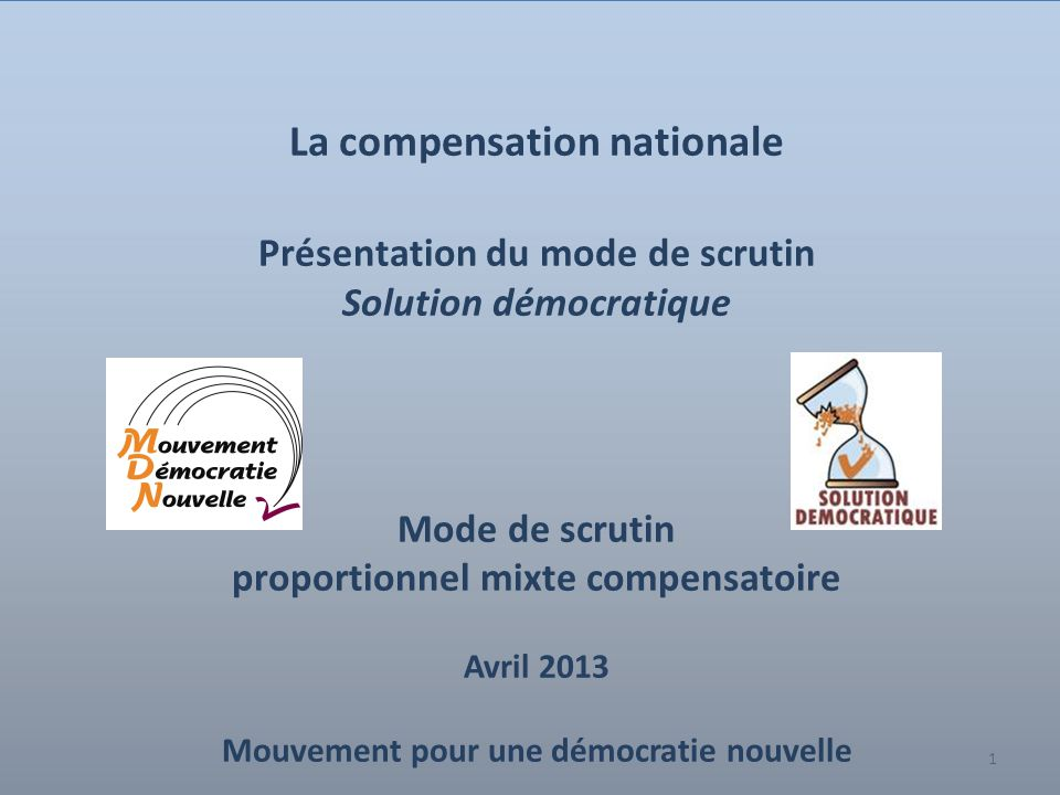 La compensation nationale