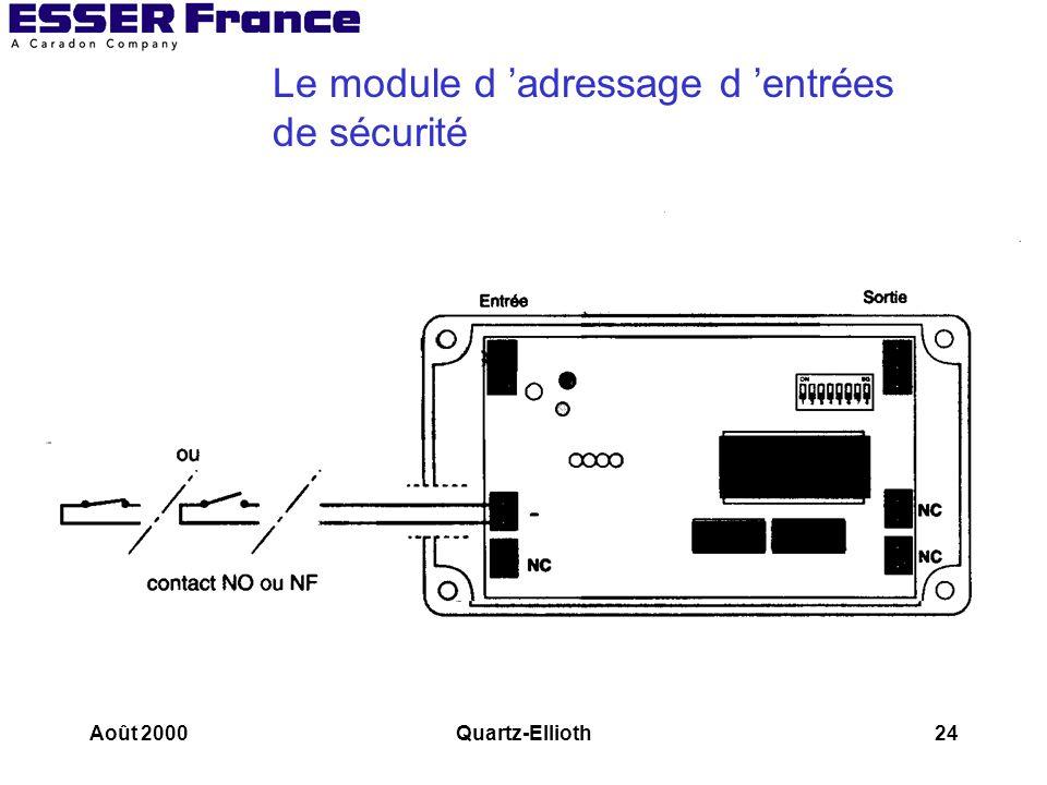 Le module d 'adressage d 'entrées de sécurité