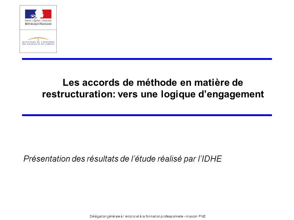 Les accords de méthode en matière de restructuration: vers une logique d'engagement