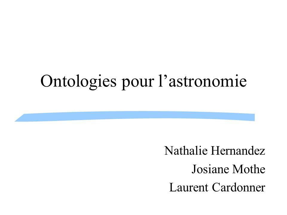 Ontologies pour l'astronomie