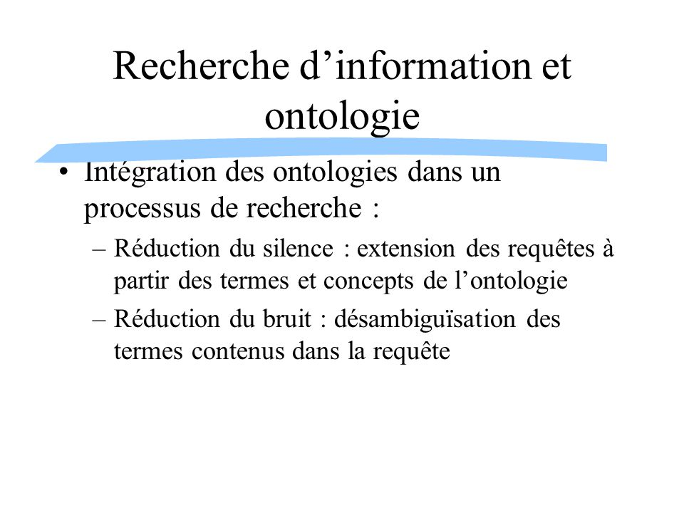 Recherche d'information et ontologie