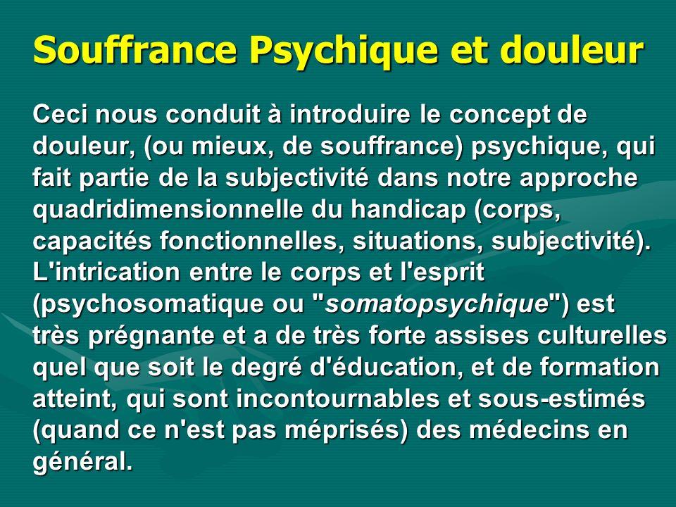 Souffrance Psychique et douleur