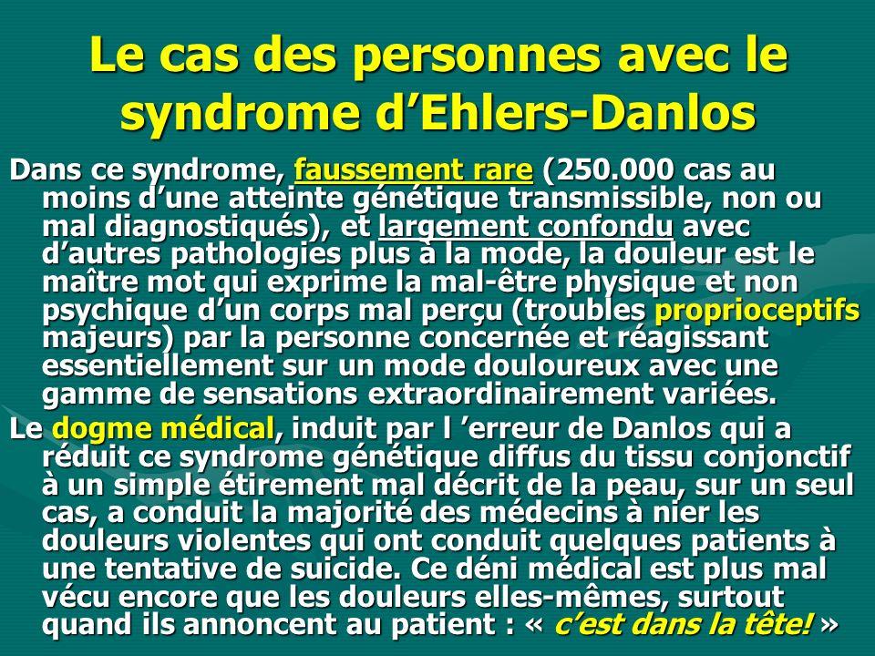 Le cas des personnes avec le syndrome d'Ehlers-Danlos