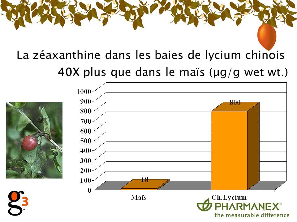 La zéaxanthine dans les baies de lycium chinois