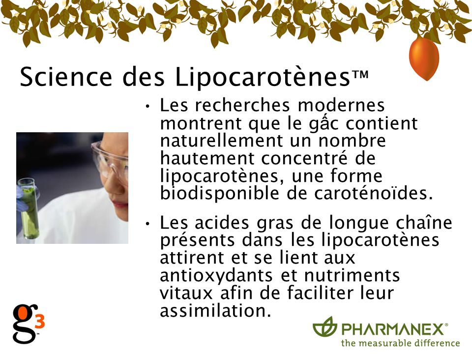 Science des Lipocarotènes™