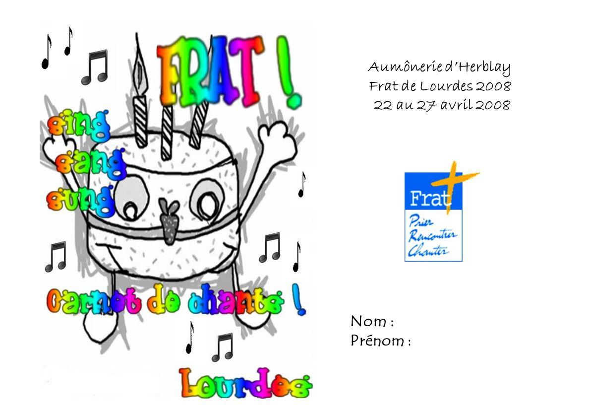 Aumônerie d'Herblay Frat de Lourdes 2008 22 au 27 avril 2008