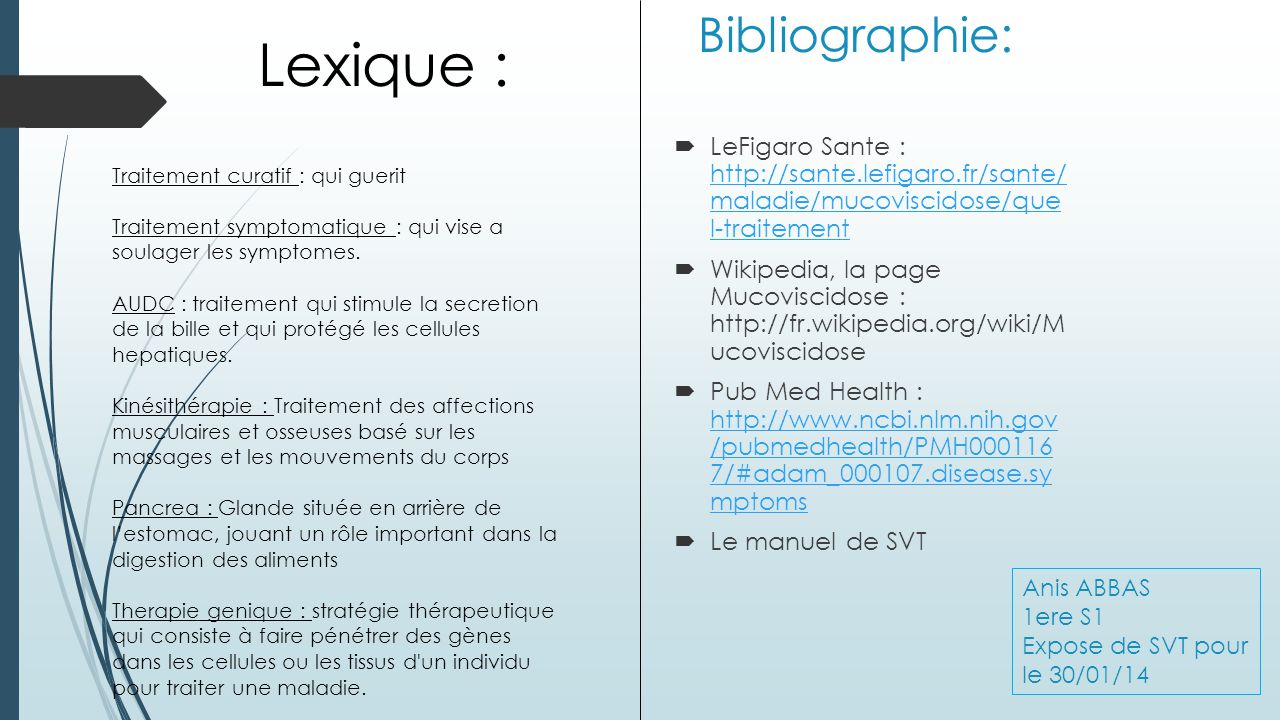Lexique : Bibliographie: