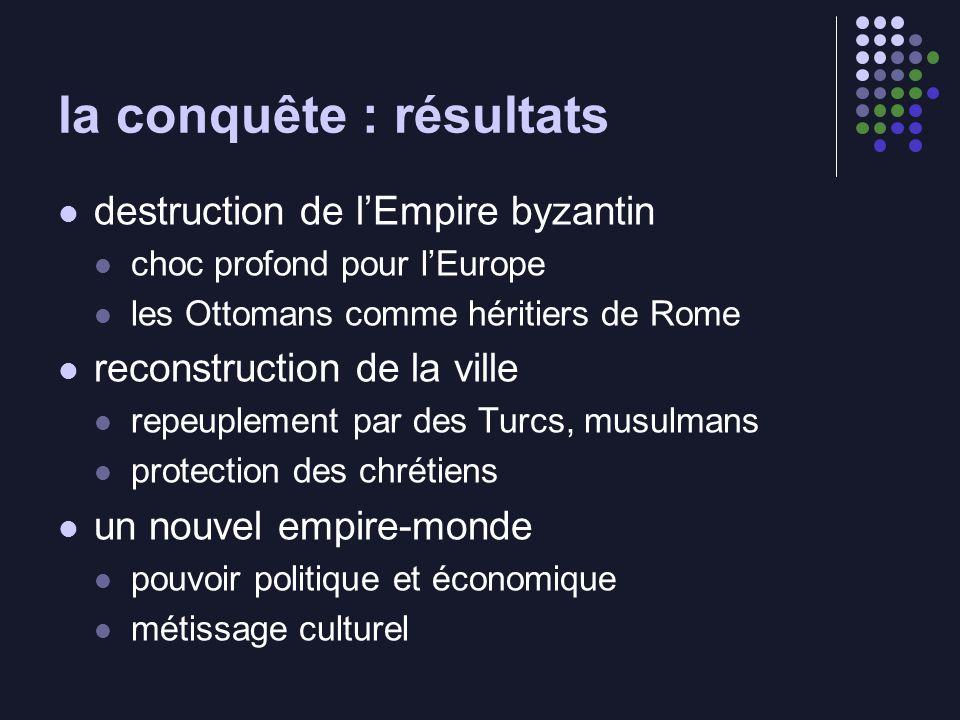 la conquête : résultats