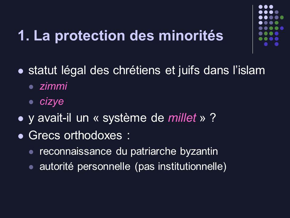 1. La protection des minorités