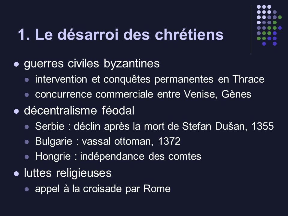1. Le désarroi des chrétiens