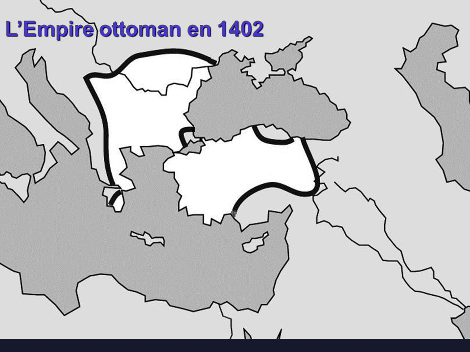 L'Empire ottoman en 1402