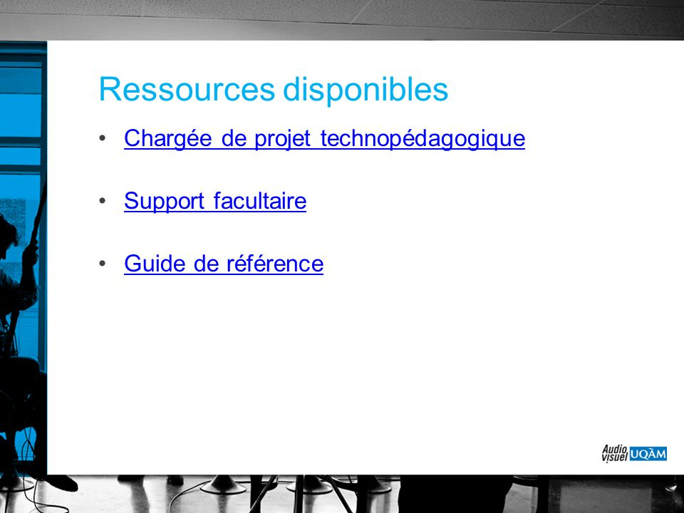 Ressources disponibles