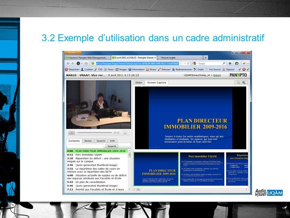 3.2 Exemple d'utilisation dans un cadre administratif