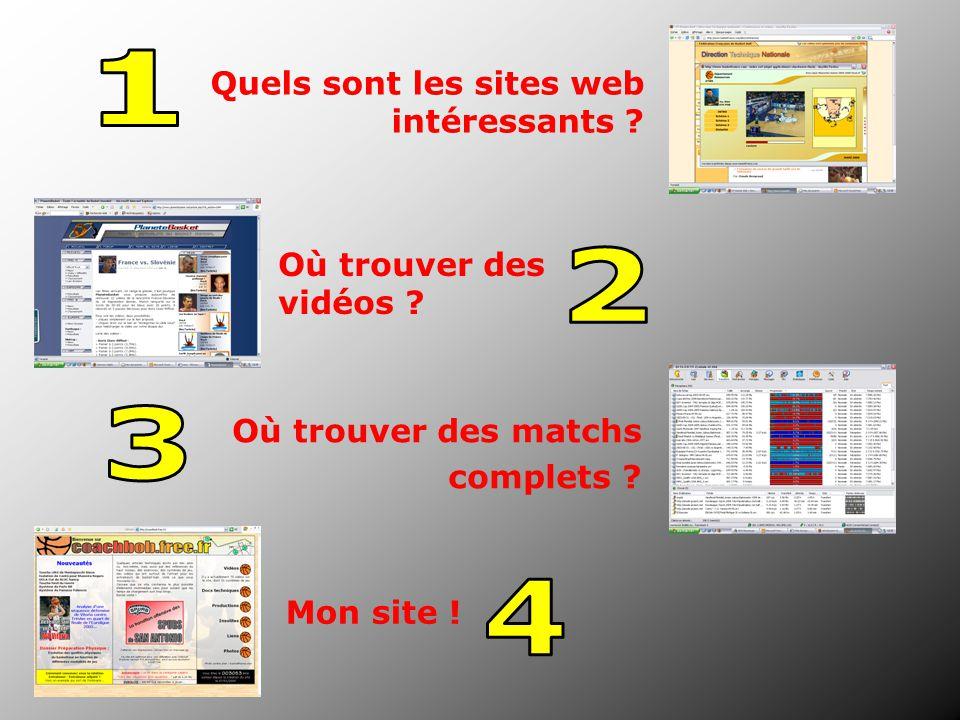 1 2 3 4 Quels sont les sites web intéressants Où trouver des