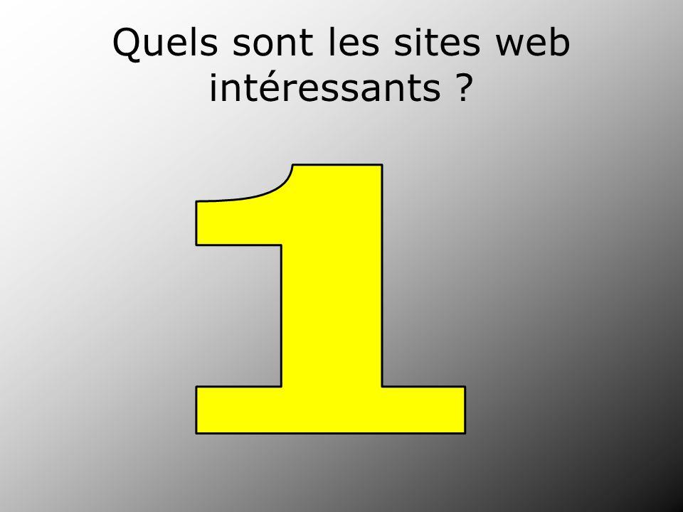 Quels sont les sites web intéressants