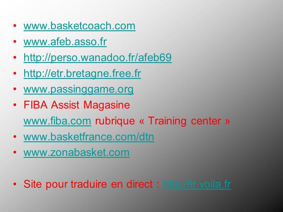 www.basketcoach.com www.afeb.asso.fr. http://perso.wanadoo.fr/afeb69. http://etr.bretagne.free.fr.