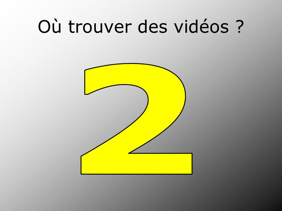 Où trouver des vidéos 2