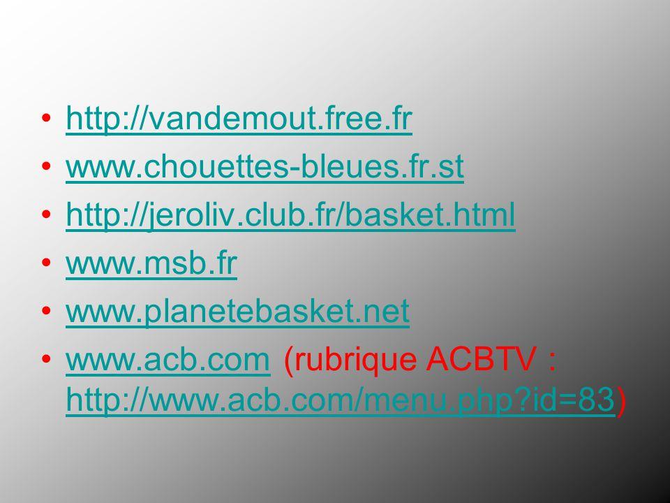 www.acb.com (rubrique ACBTV : http://www.acb.com/menu.php id=83)