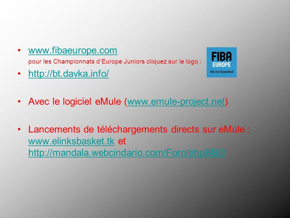 Avec le logiciel eMule (www.emule-project.net)