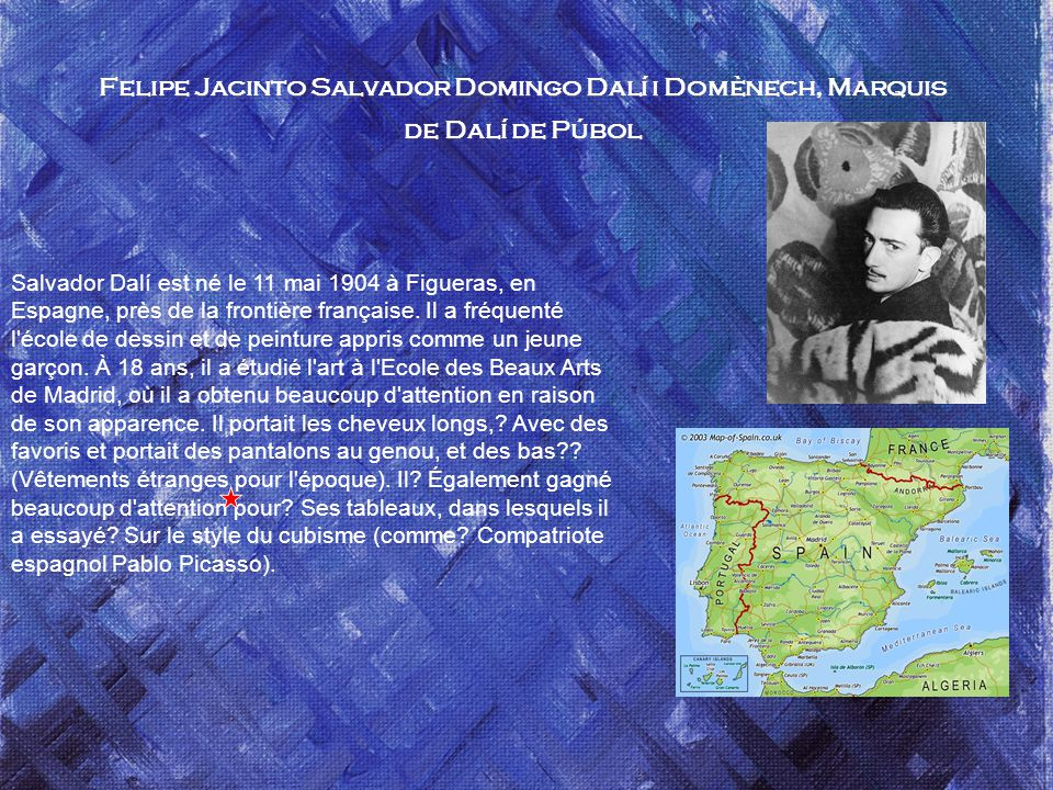 Felipe Jacinto Salvador Domingo Dalí i Domènech, Marquis de Dalí de Púbol