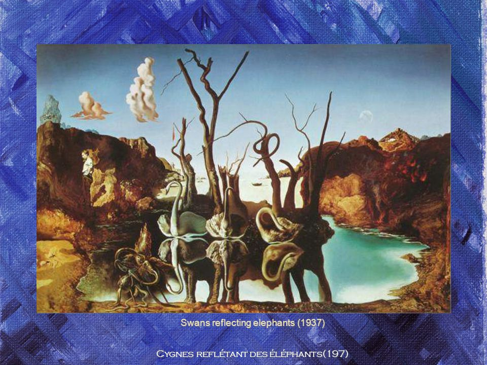 Swans reflecting elephants (1937) Cygnes reflétant des éléphants(197)