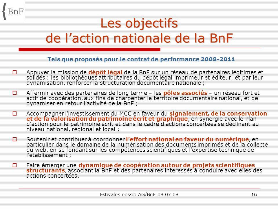 Les objectifs de l'action nationale de la BnF