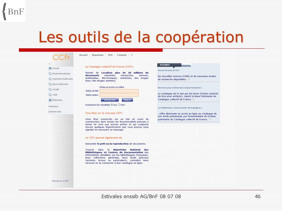 Les outils de la coopération