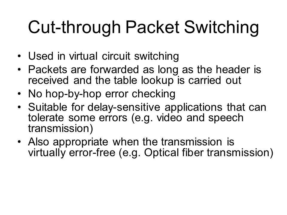 Cut-through Packet Switching