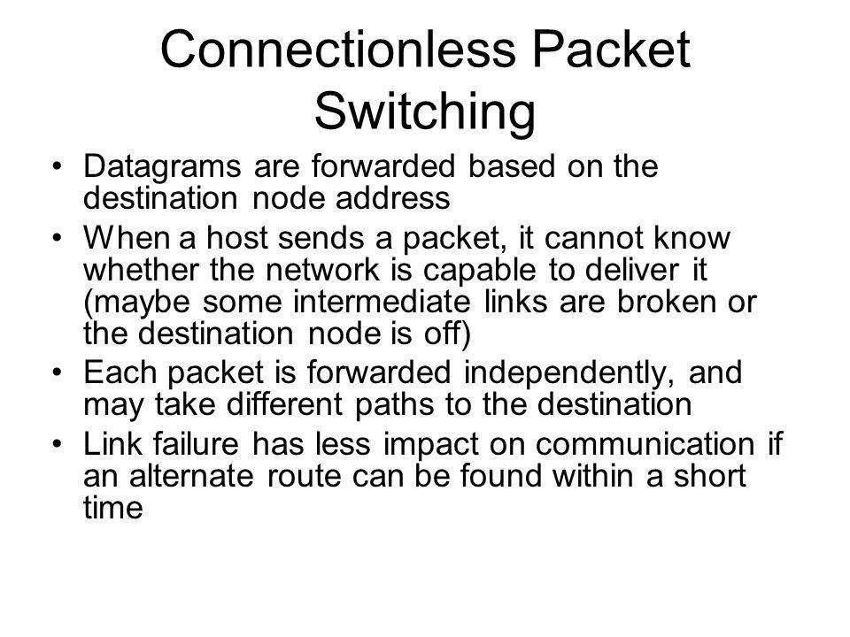 Connectionless Packet Switching