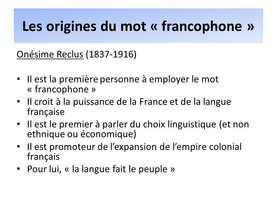 Les origines du mot « francophone »