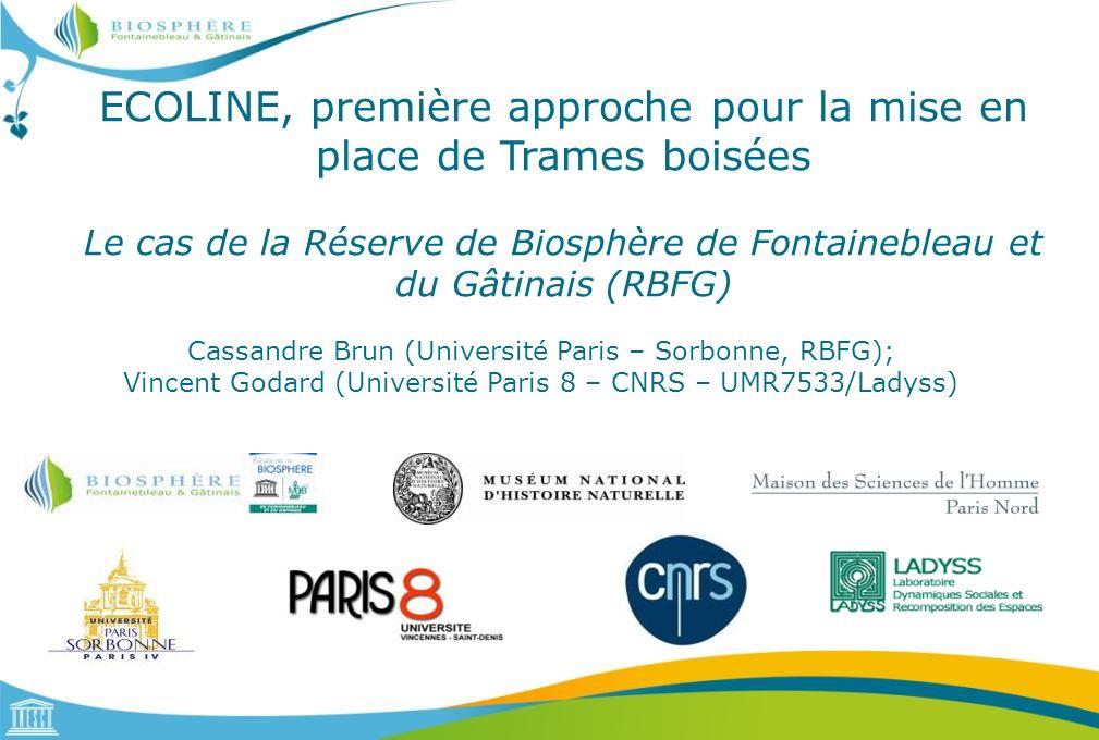 ECOLINE, première approche pour la mise en place de Trames boisées Le cas de la Réserve de Biosphère de Fontainebleau et du Gâtinais (RBFG)