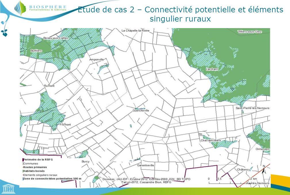 Etude de cas 2 – Connectivité potentielle et éléments singulier ruraux