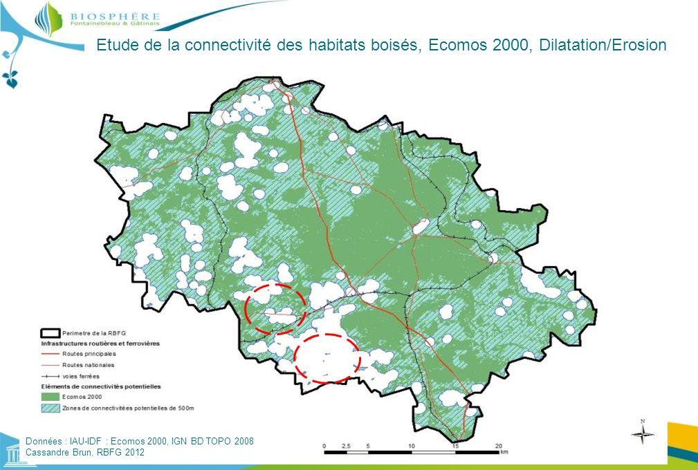 Etude de la connectivité des habitats boisés, Ecomos 2000, Dilatation/Erosion