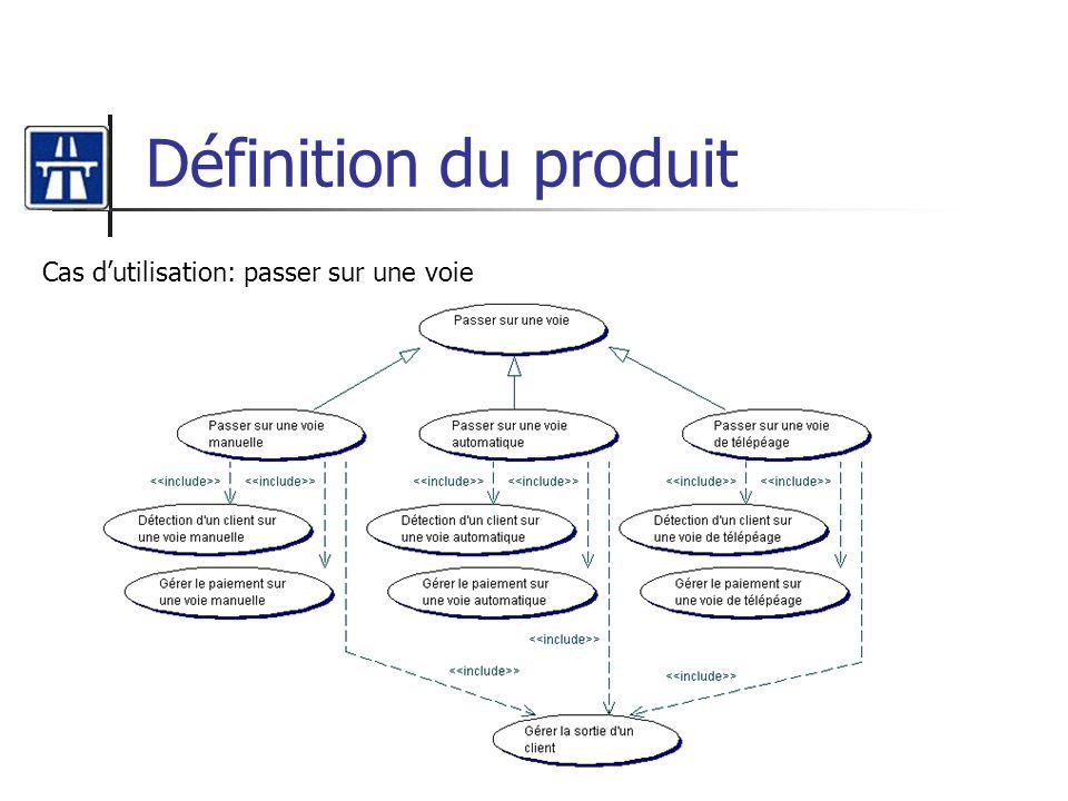 Définition du produit Cas d'utilisation: passer sur une voie
