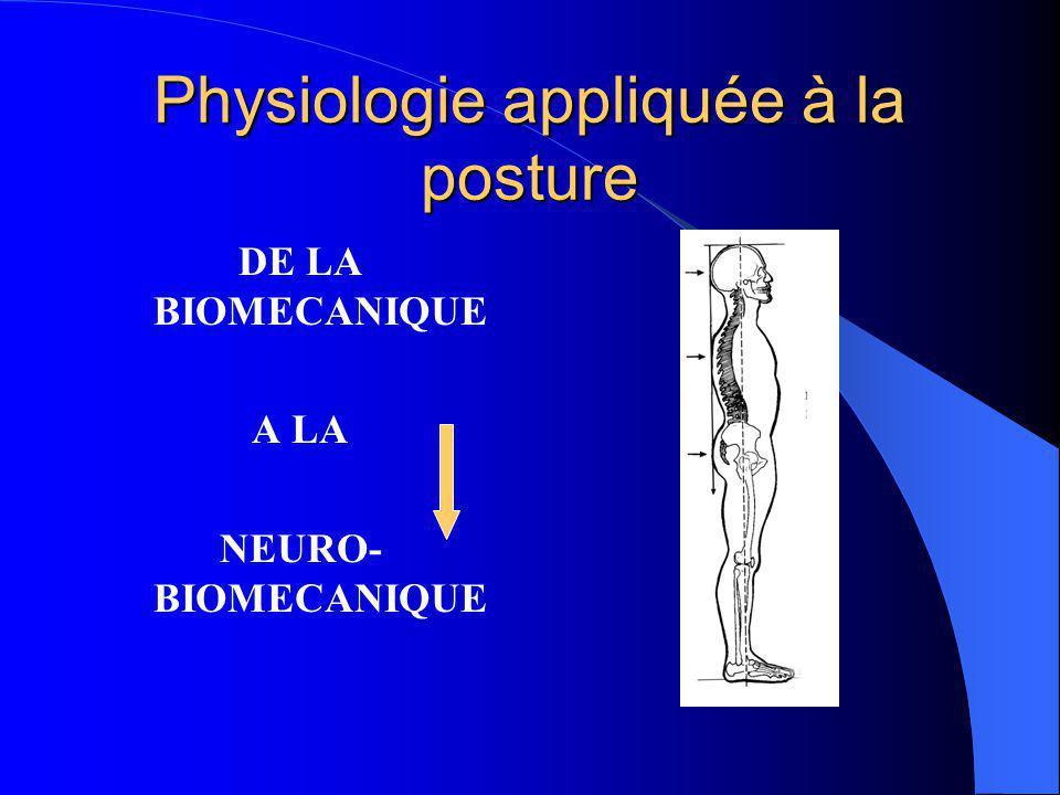 Physiologie appliquée à la posture