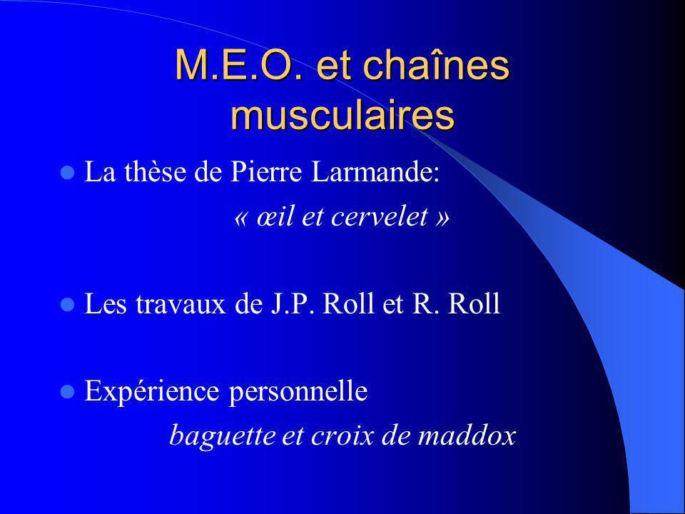 M.E.O. et chaînes musculaires