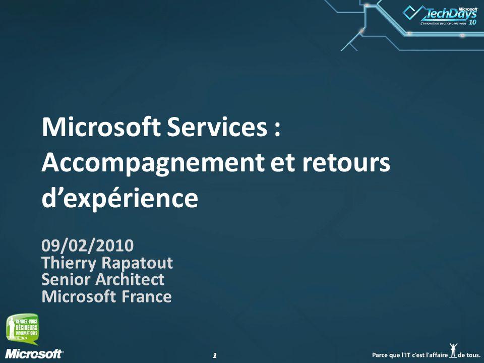 Microsoft Services : Accompagnement et retours d'expérience